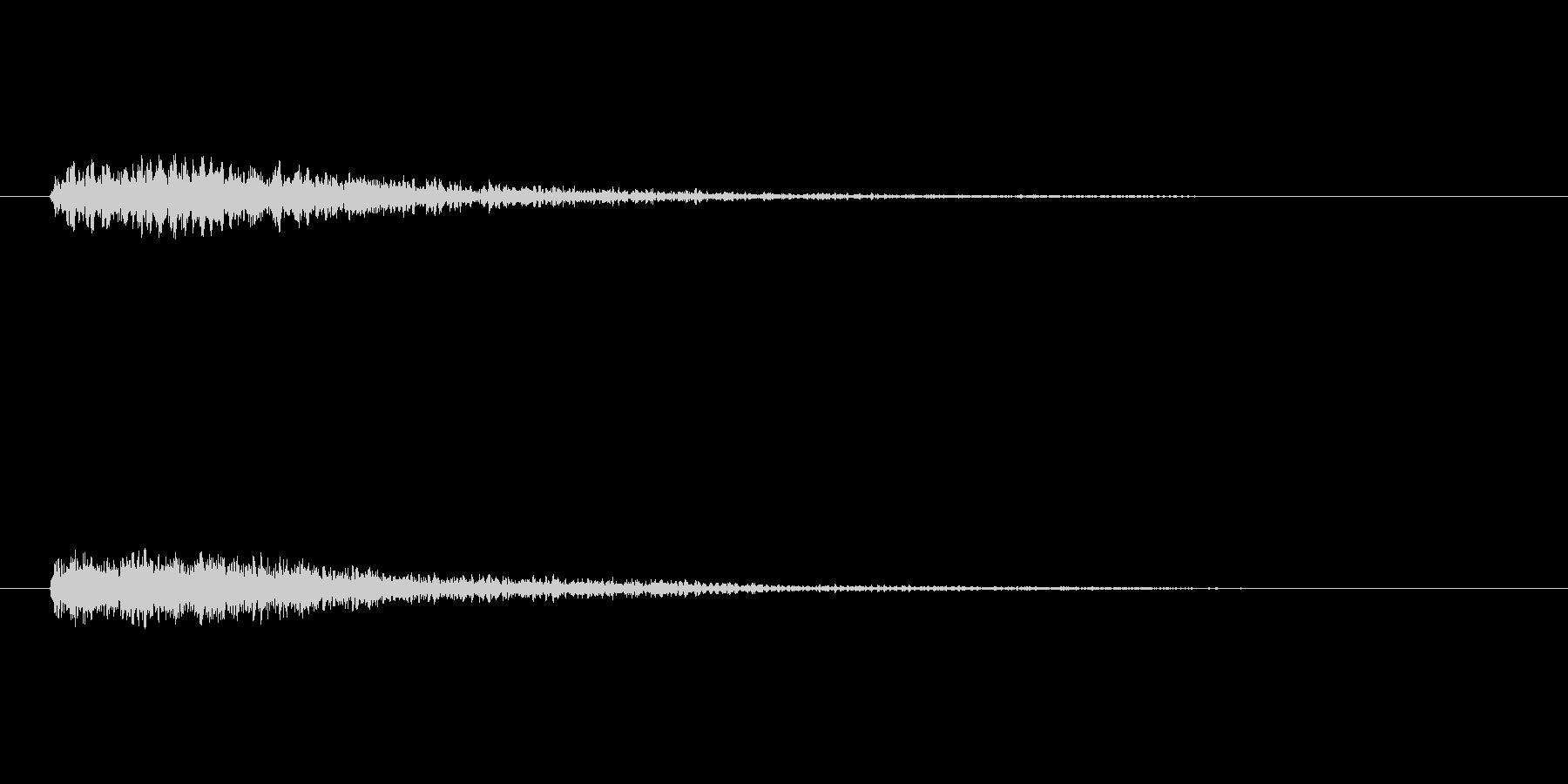 ドドーン!(重大発表とかで聴く音)の未再生の波形