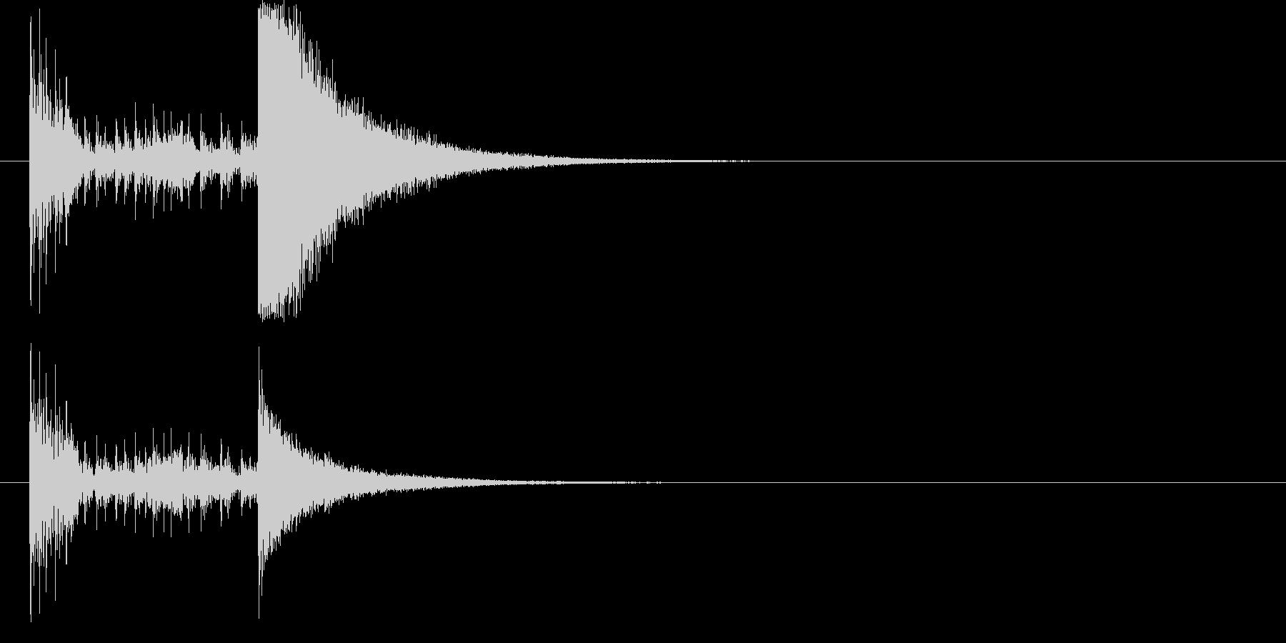 結果発表ドコドコ・ロール2秒シンバル有の未再生の波形