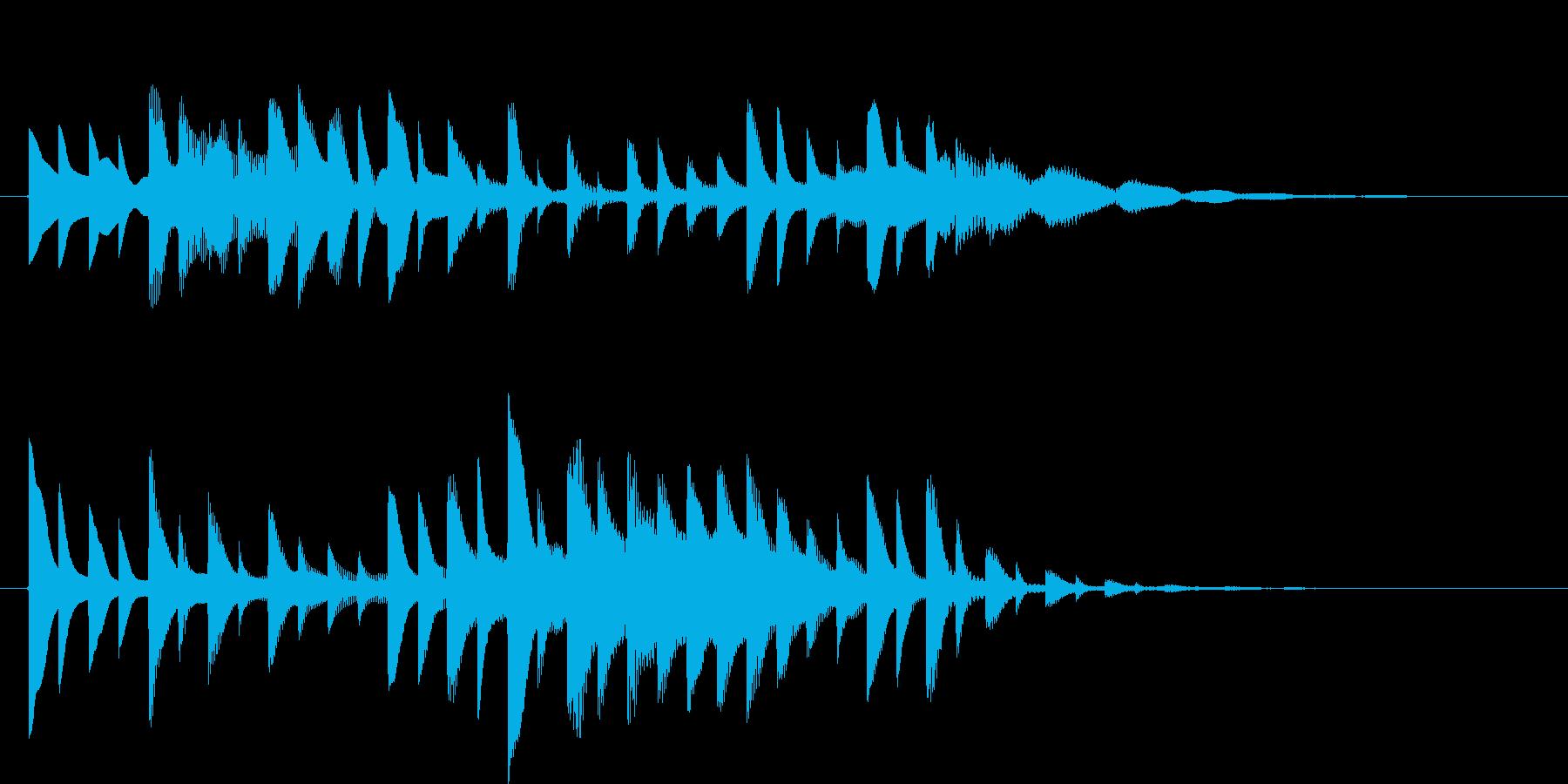 ピコピコ電子音の再生済みの波形