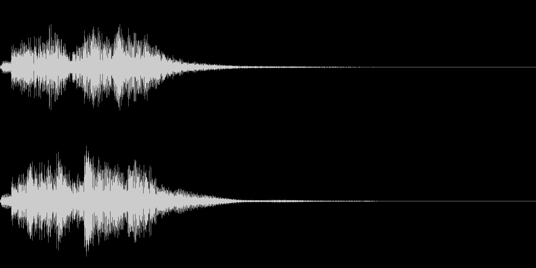 ハープによる分散和音~ディミニッシュ系~の未再生の波形