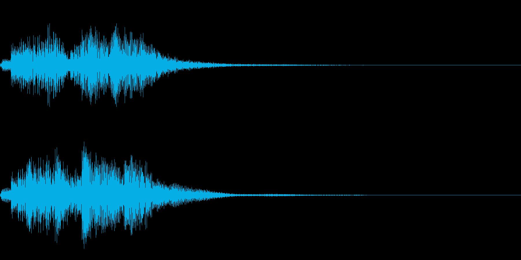 ハープによる分散和音~ディミニッシュ系~の再生済みの波形