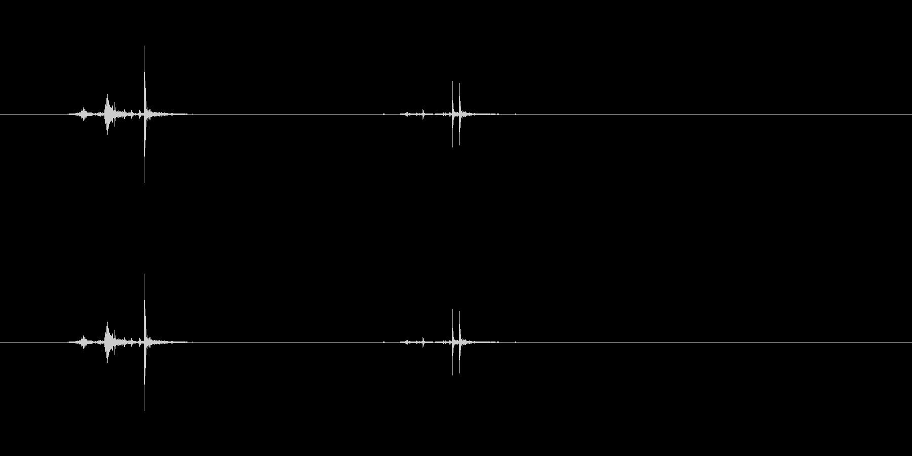 【ホッチキス03-2(留める)】の未再生の波形