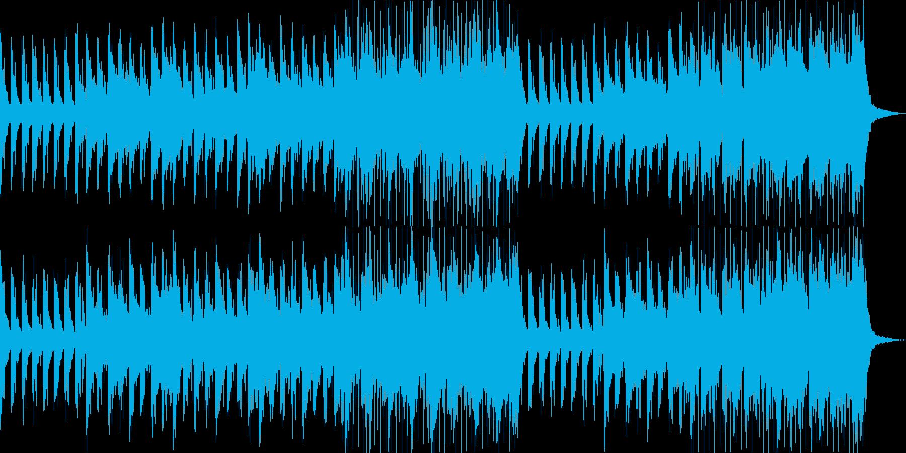 静かな日常シーンにの再生済みの波形