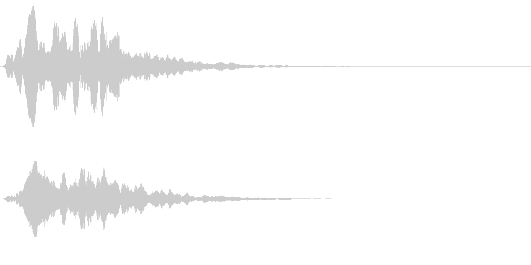 アイテム獲得や決定音等に使えます。の未再生の波形