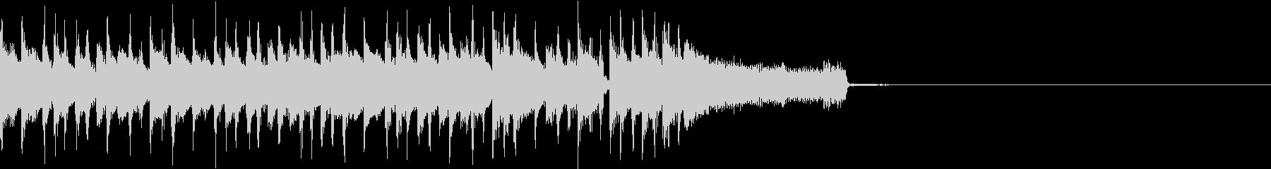 定番のロック・ブルースなジングルの未再生の波形