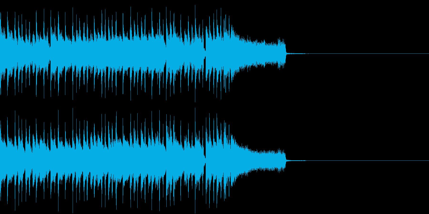 定番のロック・ブルースなジングルの再生済みの波形