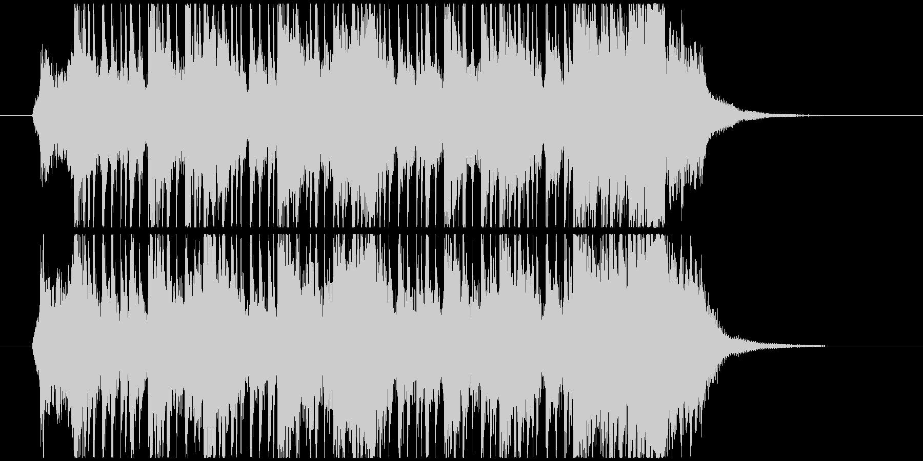 太鼓や掛け声が本格的な和風ジングルの未再生の波形