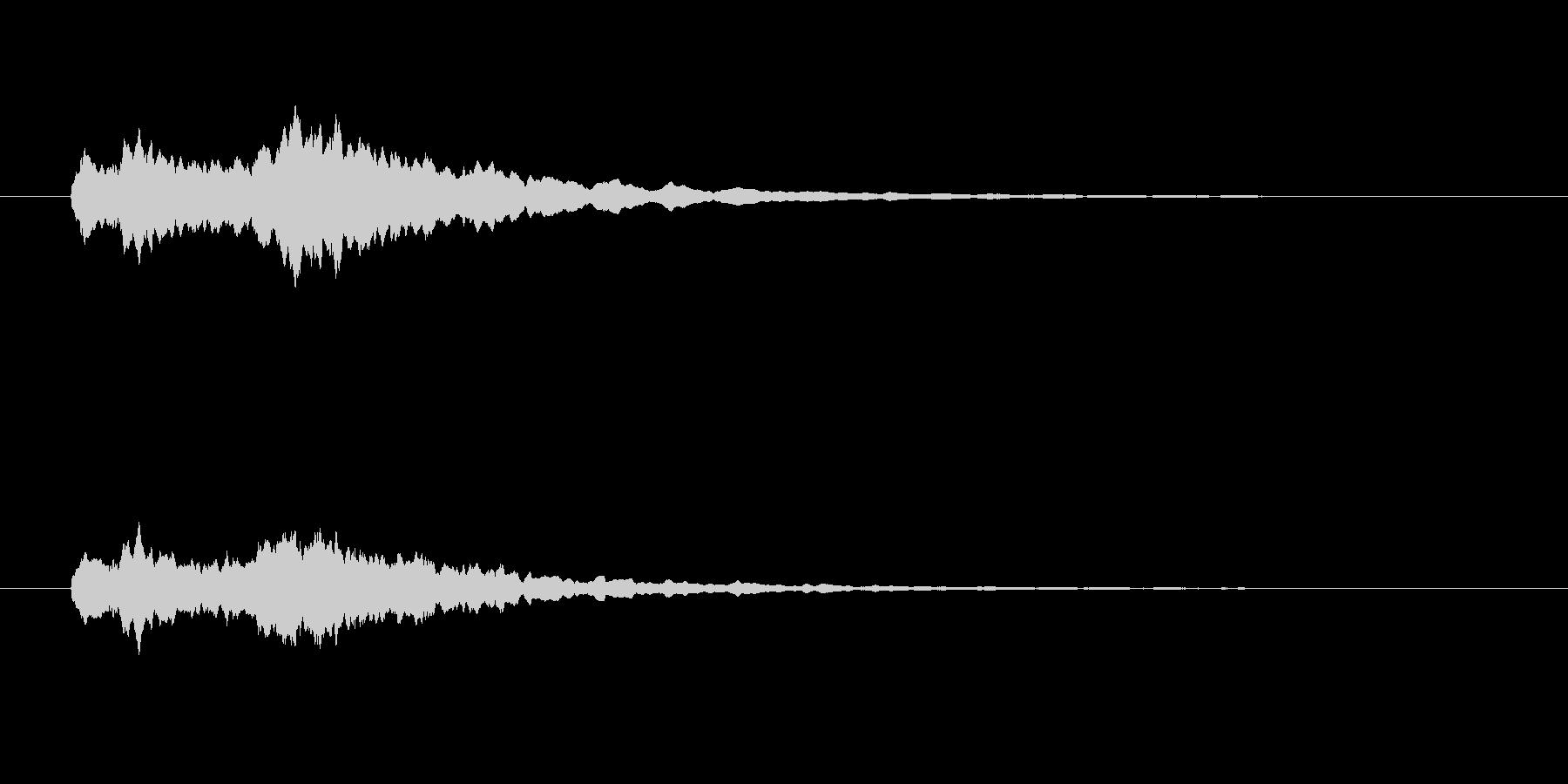 フンファン(シンプル、短い)の未再生の波形