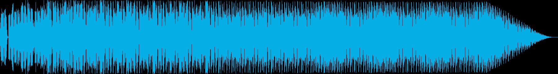疾走感のあるかっこいいテクノ音楽の再生済みの波形