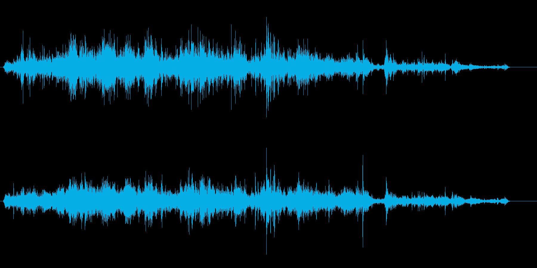 クシャクシャクシャ(紙のような効果音)の再生済みの波形
