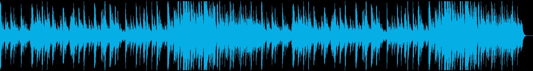 キラキラした感じのソロ・ピアノ曲の再生済みの波形