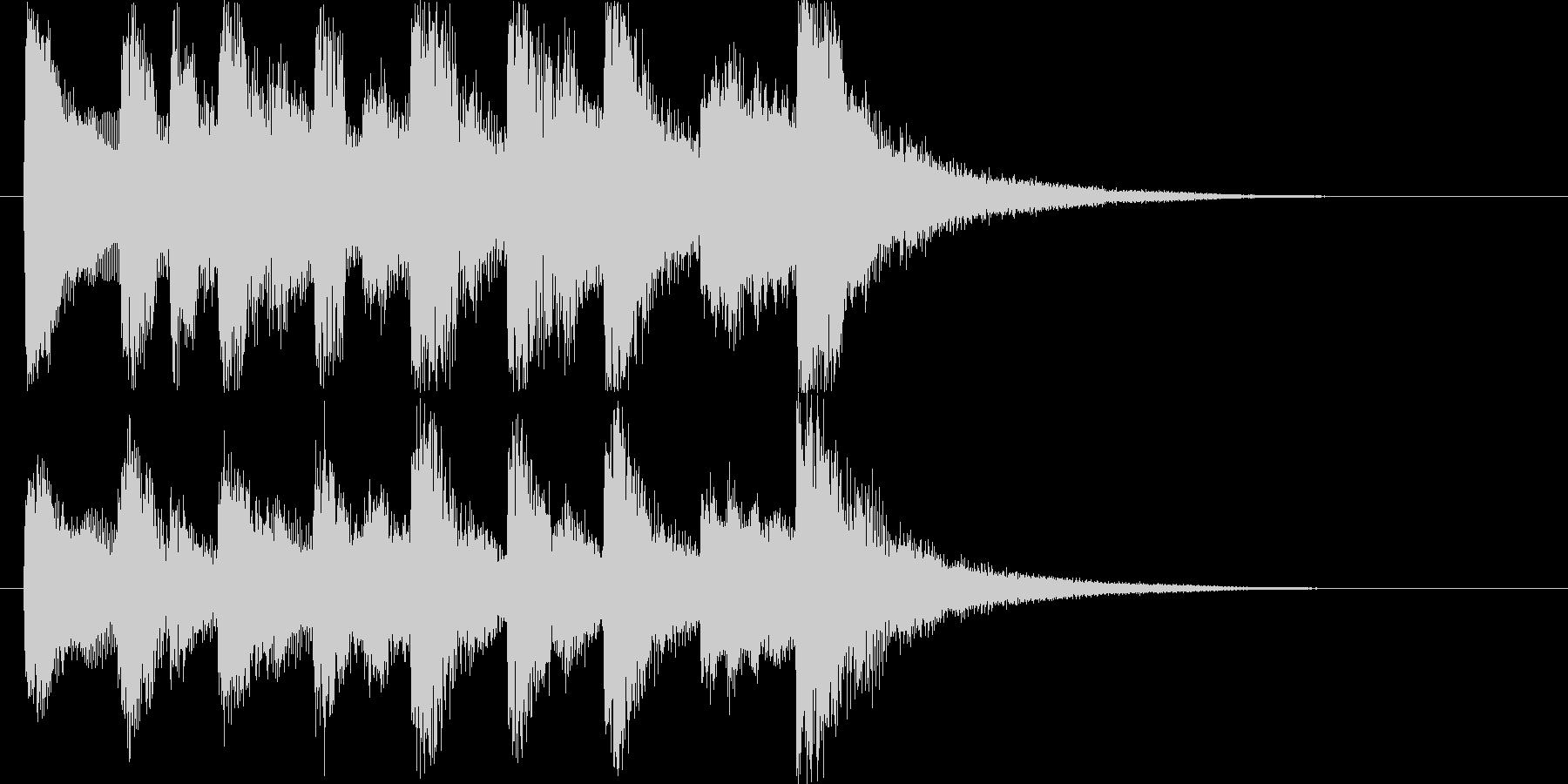 コミカルなオーケストラハロウィンロゴ♪の未再生の波形