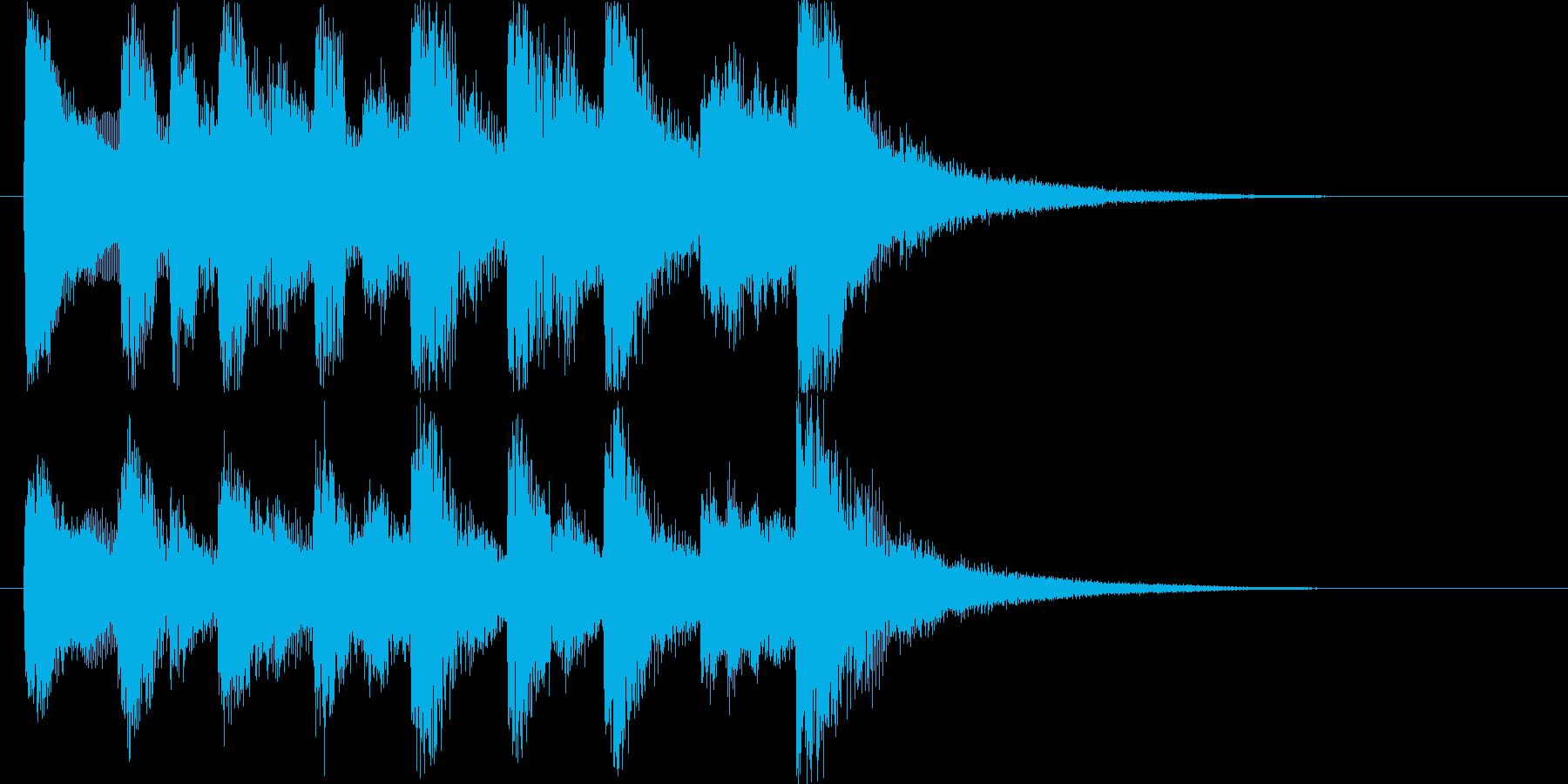 コミカルなオーケストラハロウィンロゴ♪の再生済みの波形