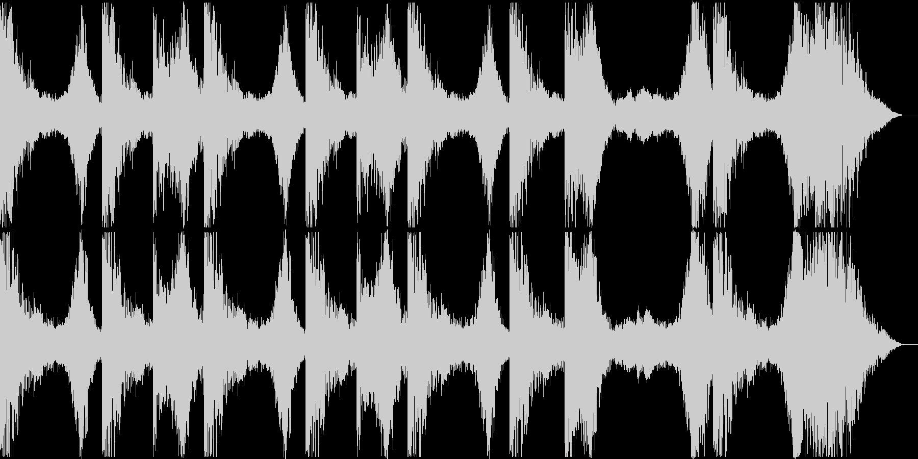 暗くて不気味なBGMの未再生の波形