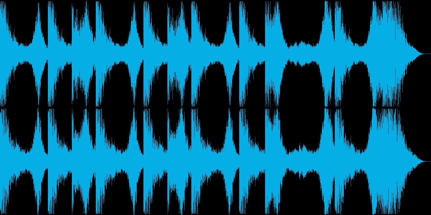 暗くて不気味なBGMの再生済みの波形