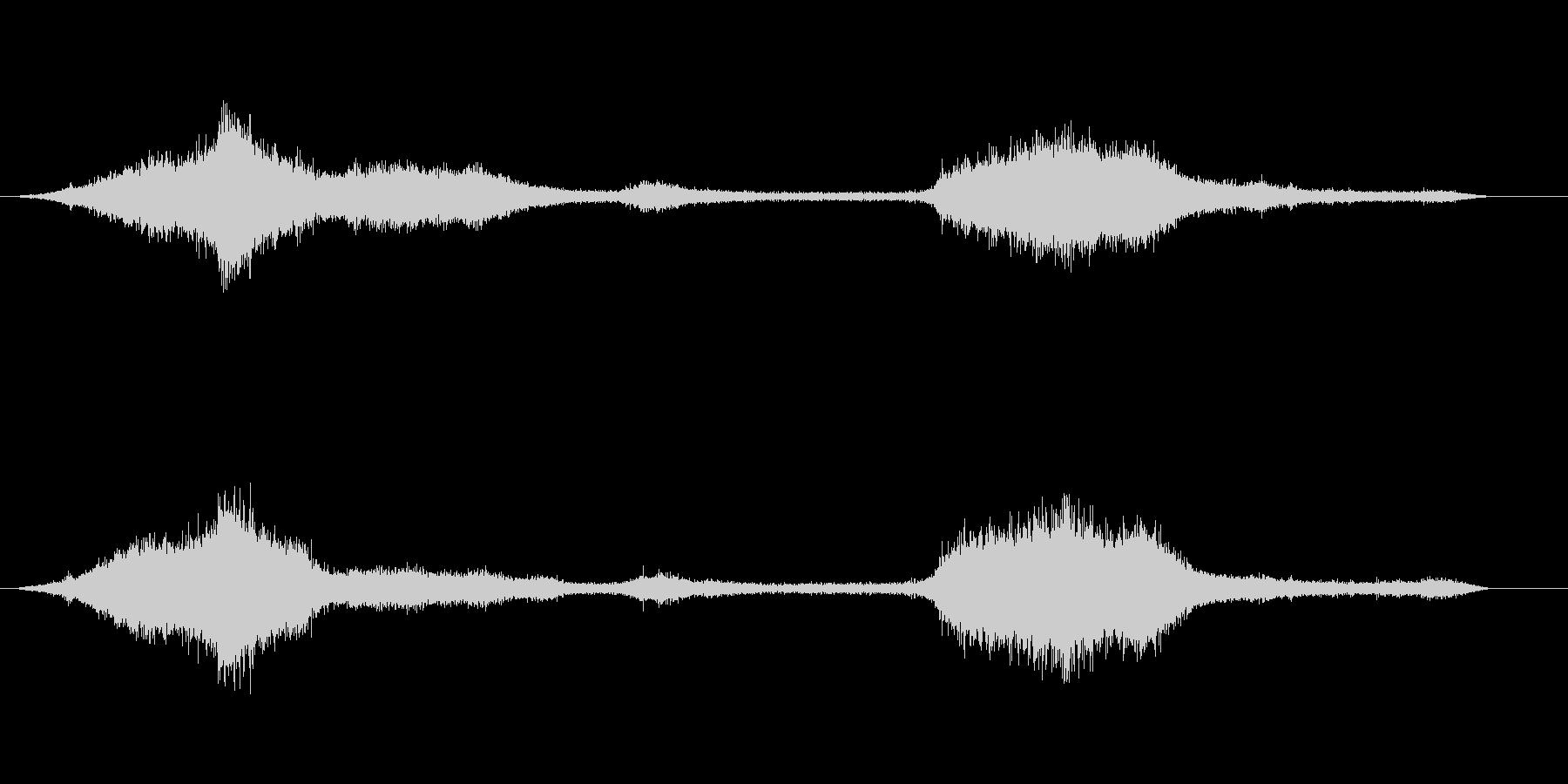 波の音の未再生の波形