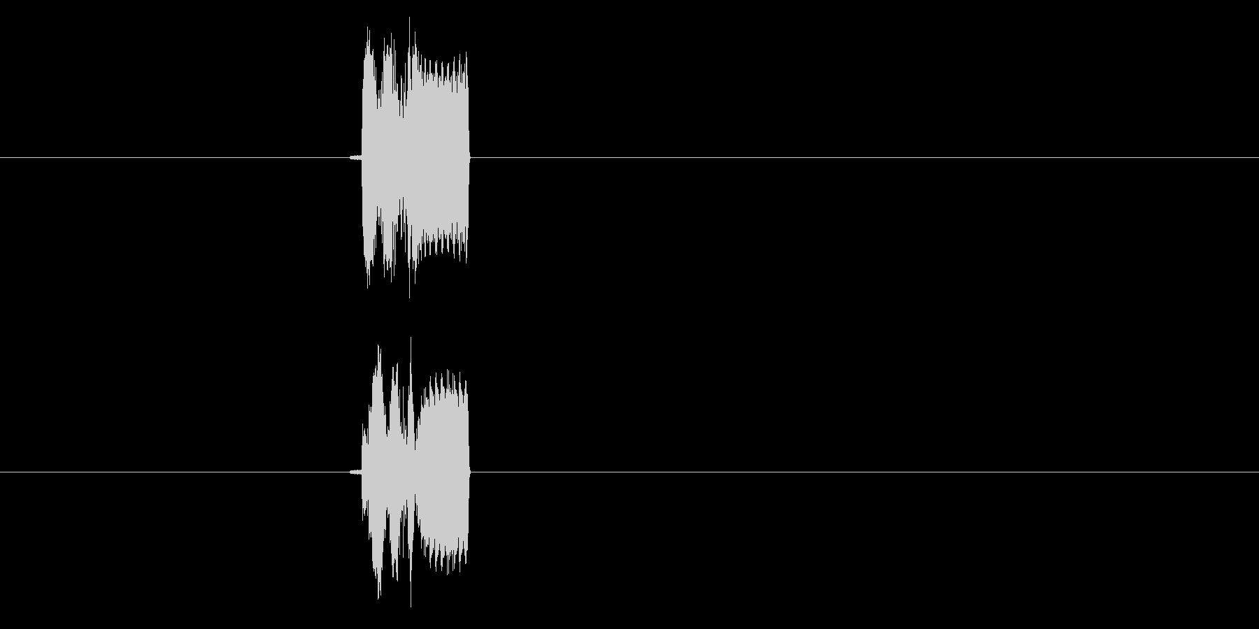チュイン(決定音、プッシュ音)の未再生の波形