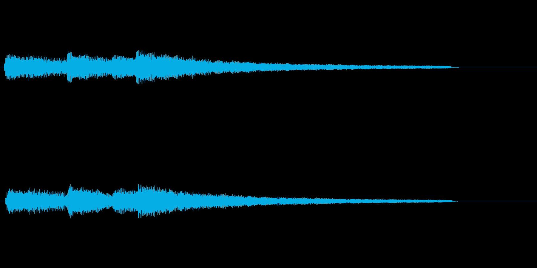 穏やかなエレピのジングルの再生済みの波形