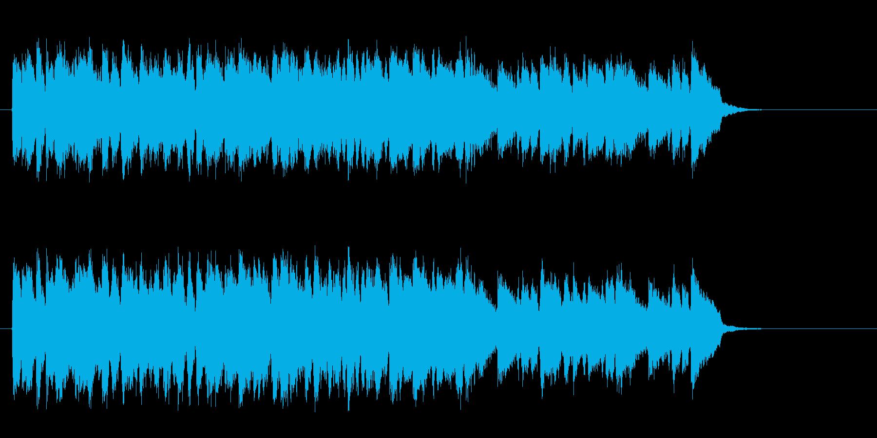 安心感ある暖かいバラード(サビ~エンド)の再生済みの波形