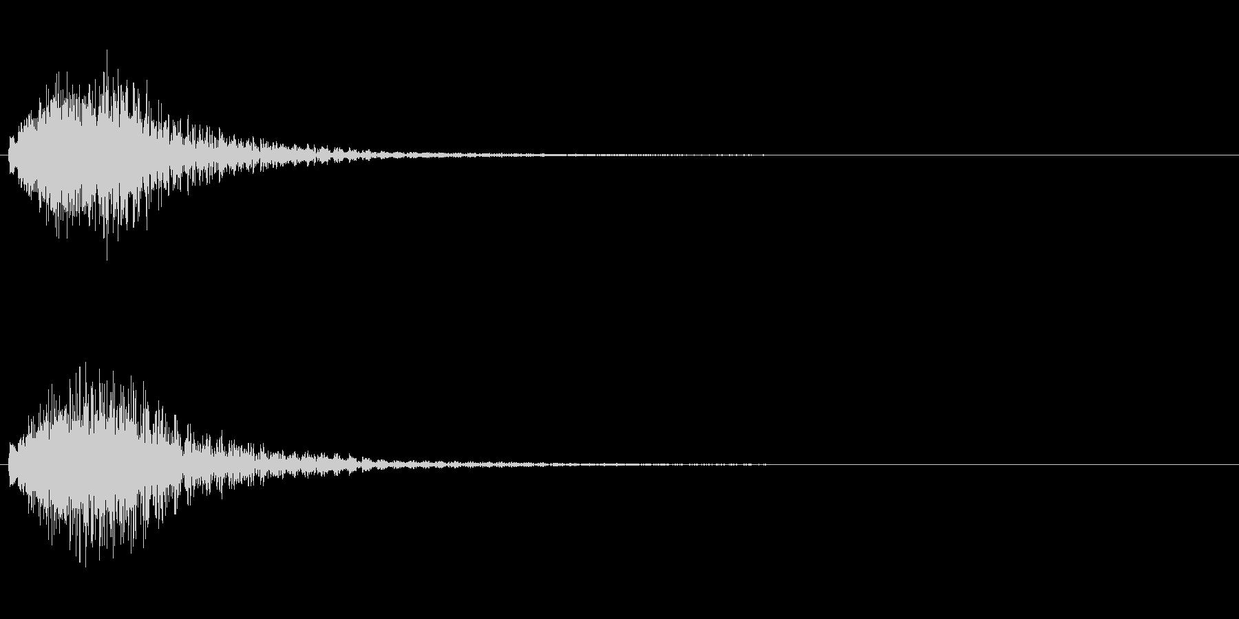 ハープのグリッサンド 下降形の未再生の波形