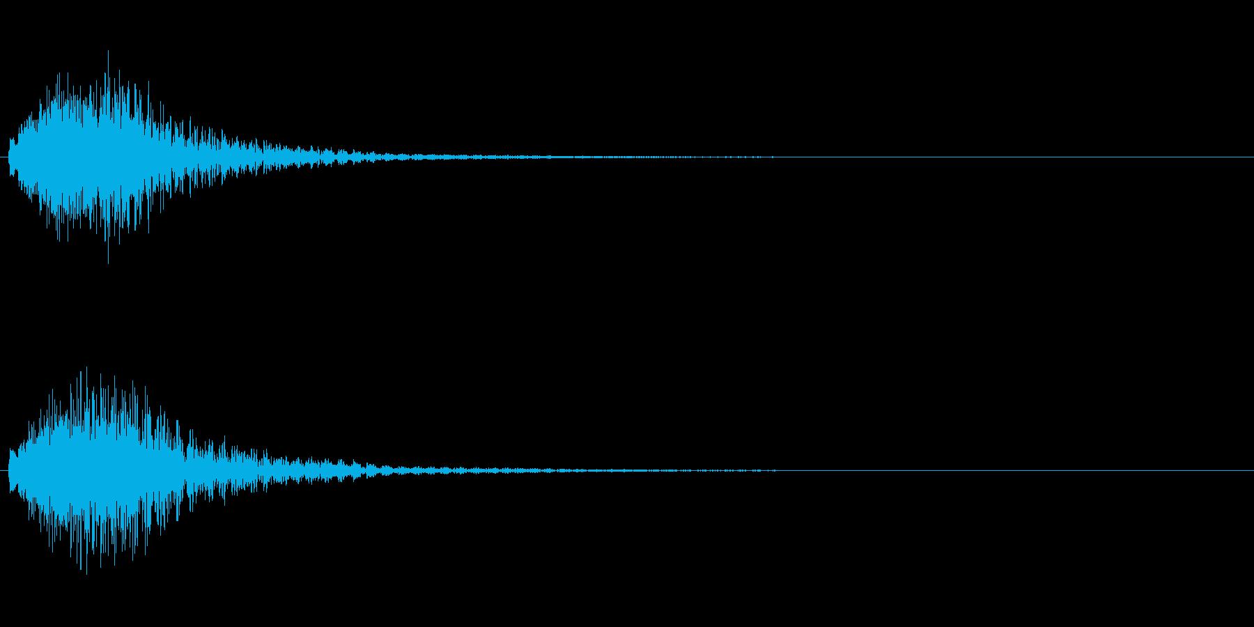 ハープのグリッサンド 下降形の再生済みの波形