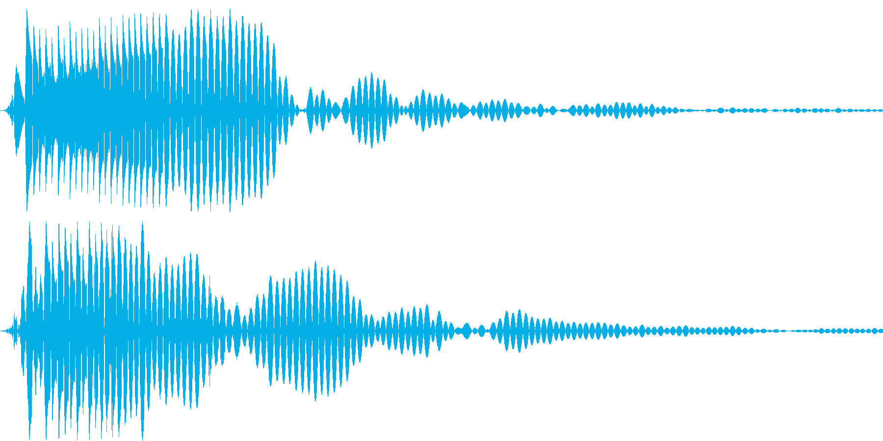 テロップ用効果音・ポンの再生済みの波形