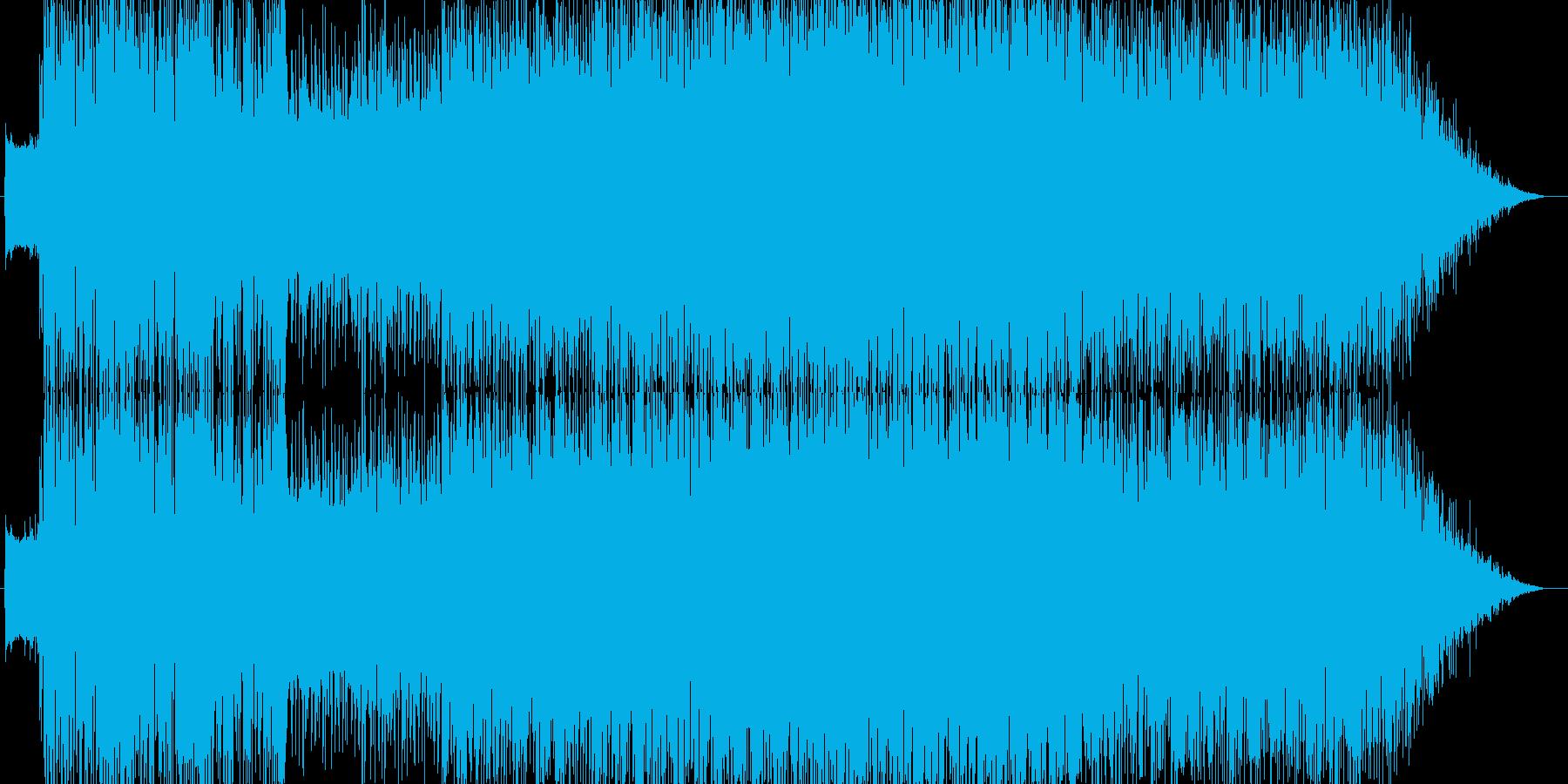 宇宙空間をイメージしたデジタルロックの再生済みの波形