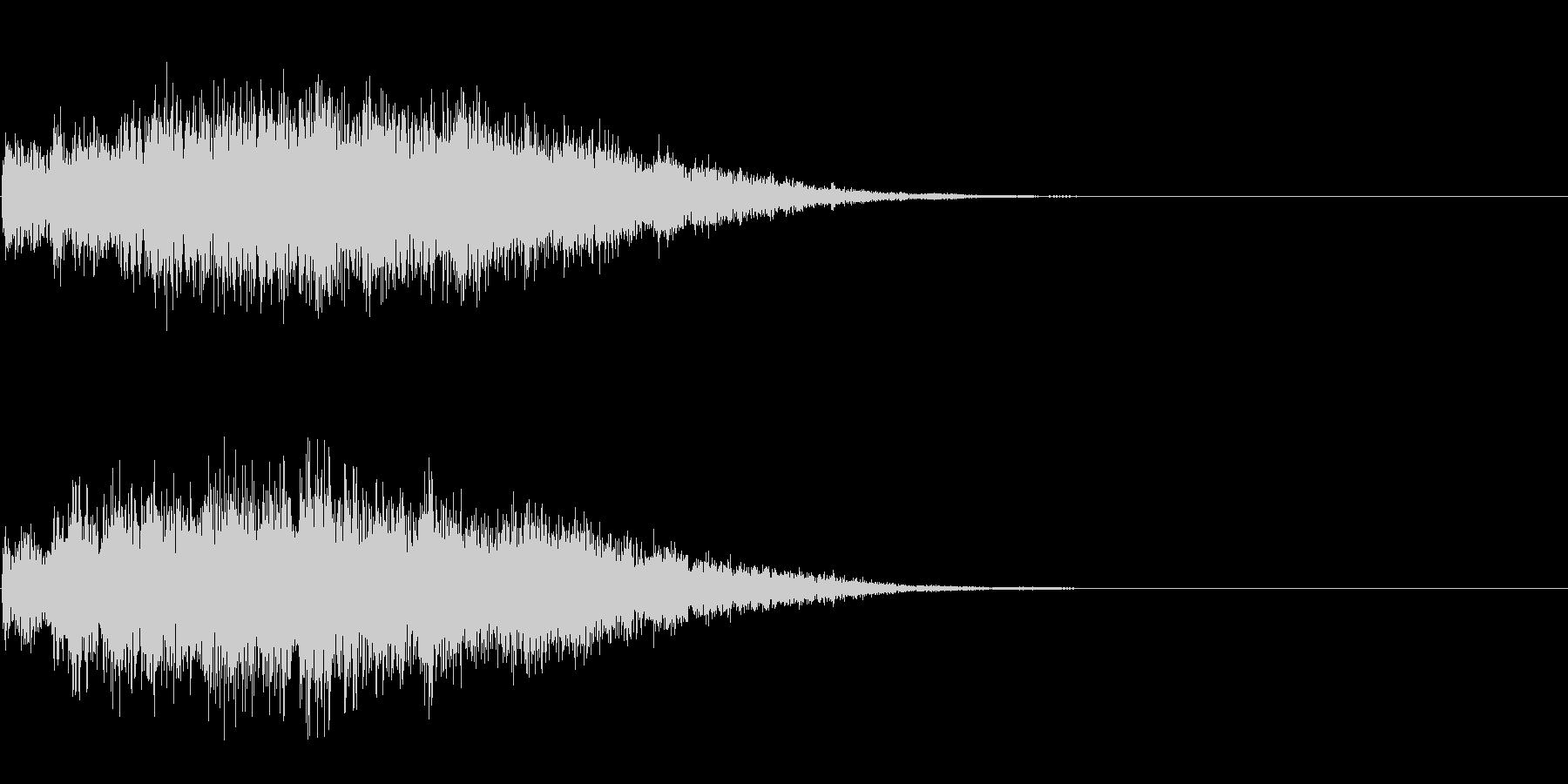 チャイム 2の未再生の波形