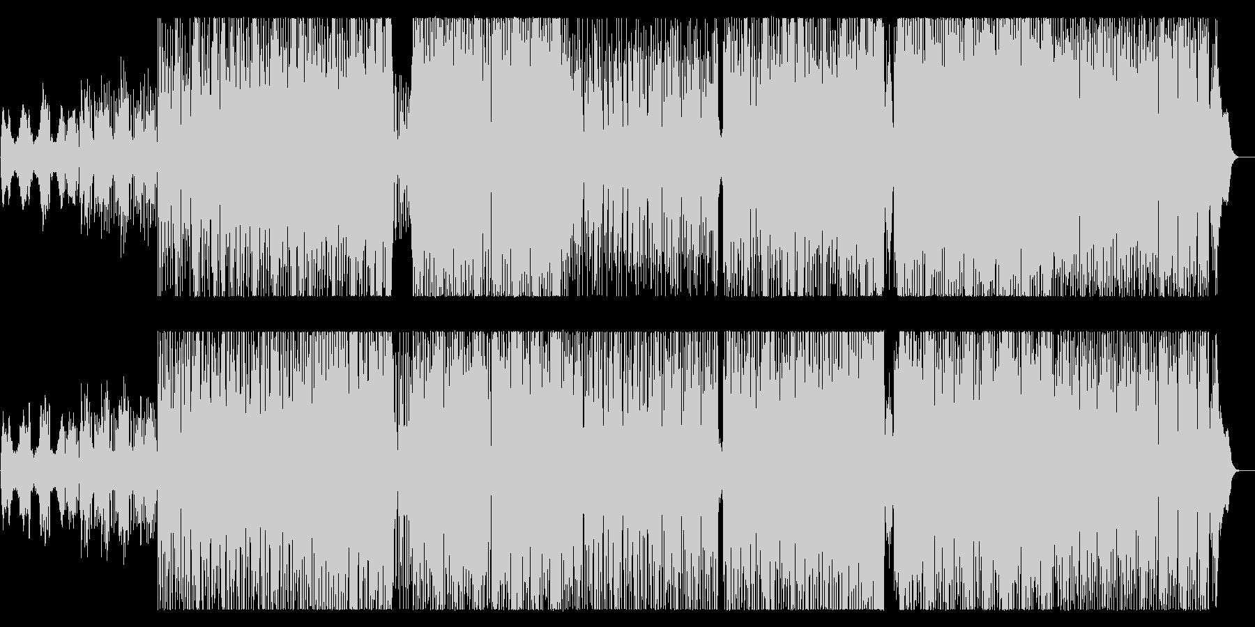 緩やかで軽快なテクノロックサウンドの未再生の波形
