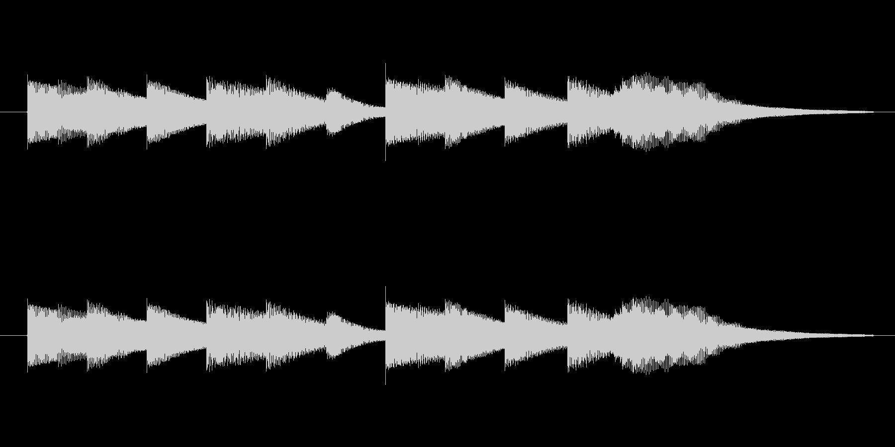 透明感のある音源使用 お知らせの合図ベ…の未再生の波形