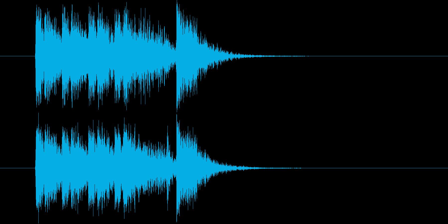 勢いとドキドキ感あるシンセジングルの再生済みの波形