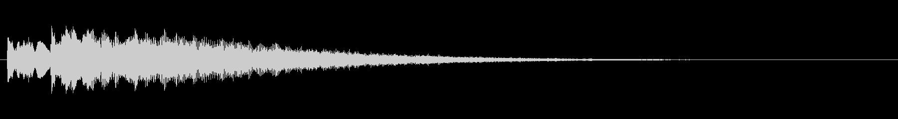 キュイン! アタック音6(上昇↑)の未再生の波形