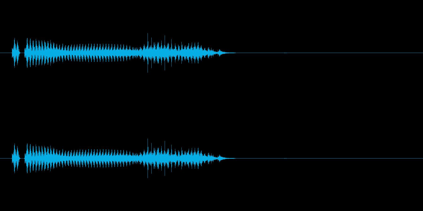 筒子(麻雀)の再生済みの波形
