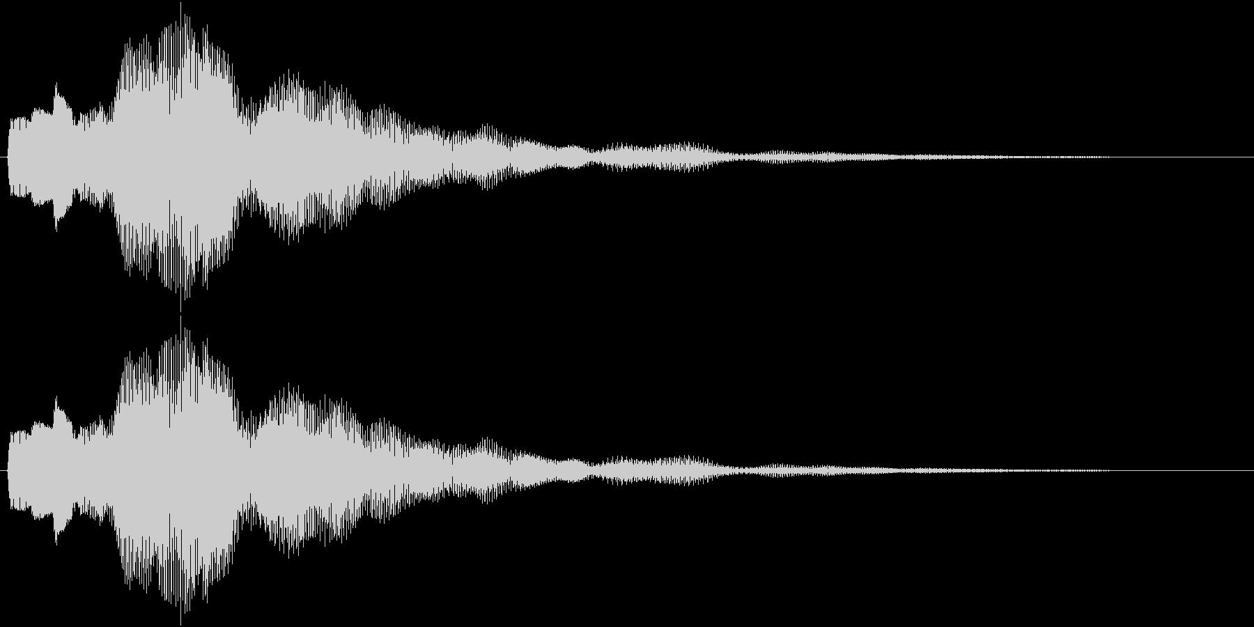 ワンポイント、アナウンス等の未再生の波形