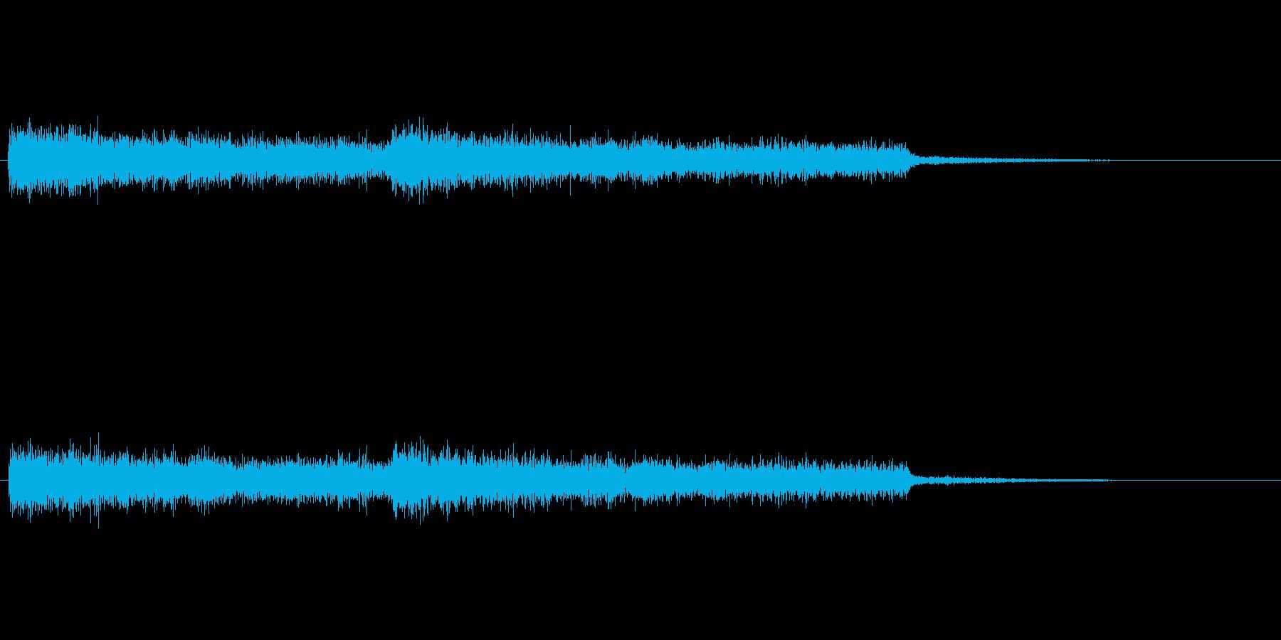 シンセパッド音の再生済みの波形