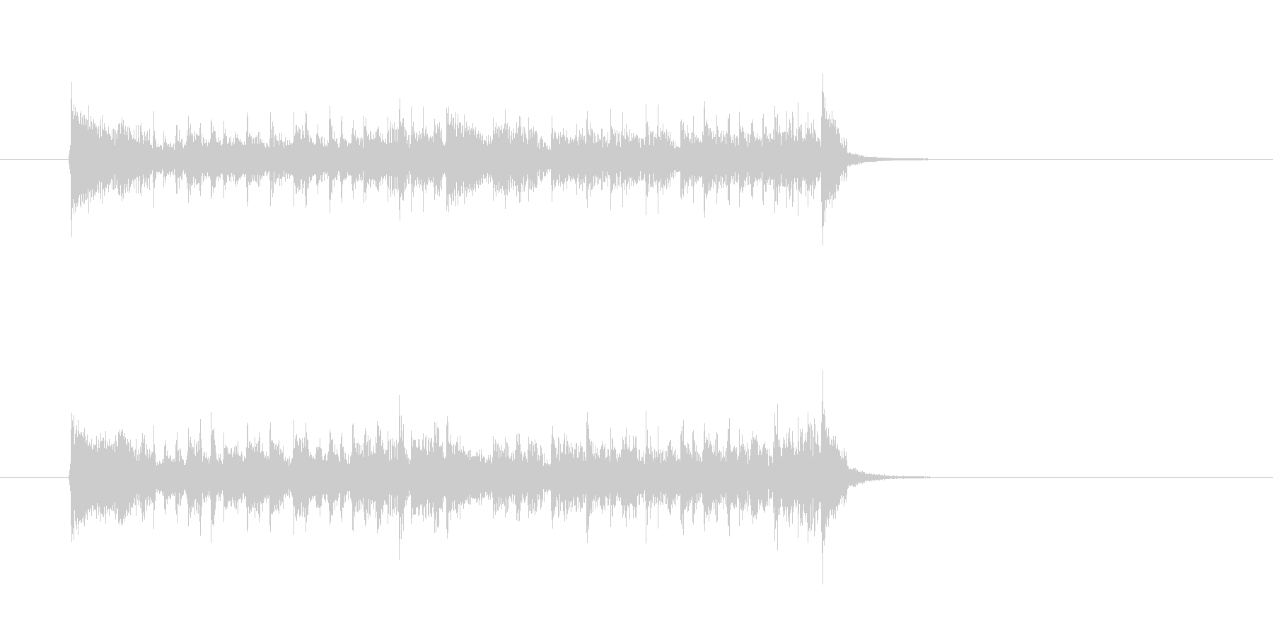 クール ベース シンセサイザーの未再生の波形