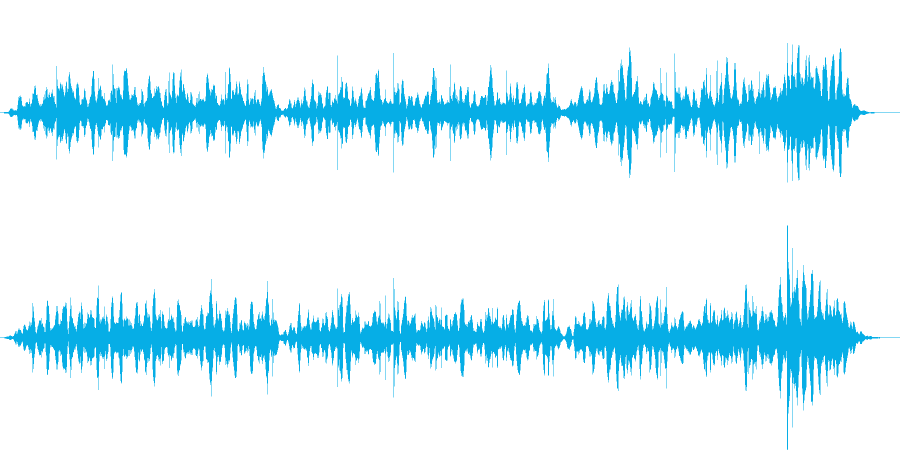 思案中、探索中、考え中のBGMの再生済みの波形