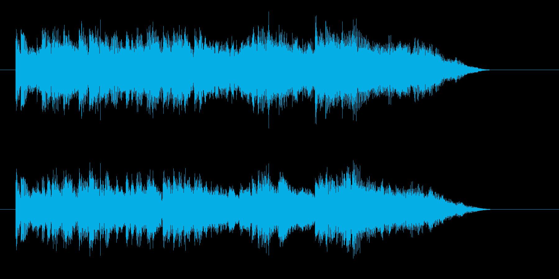 穏やかでゆったりした短めの曲の再生済みの波形