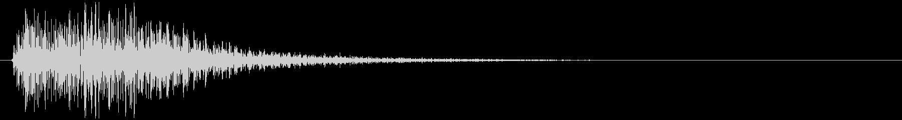 クラッカーの音 パンの未再生の波形