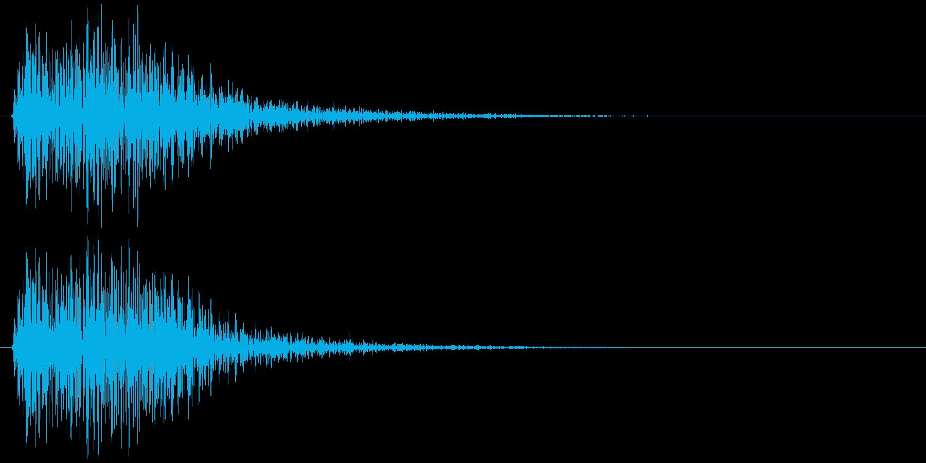 クラッカーの音 パンの再生済みの波形