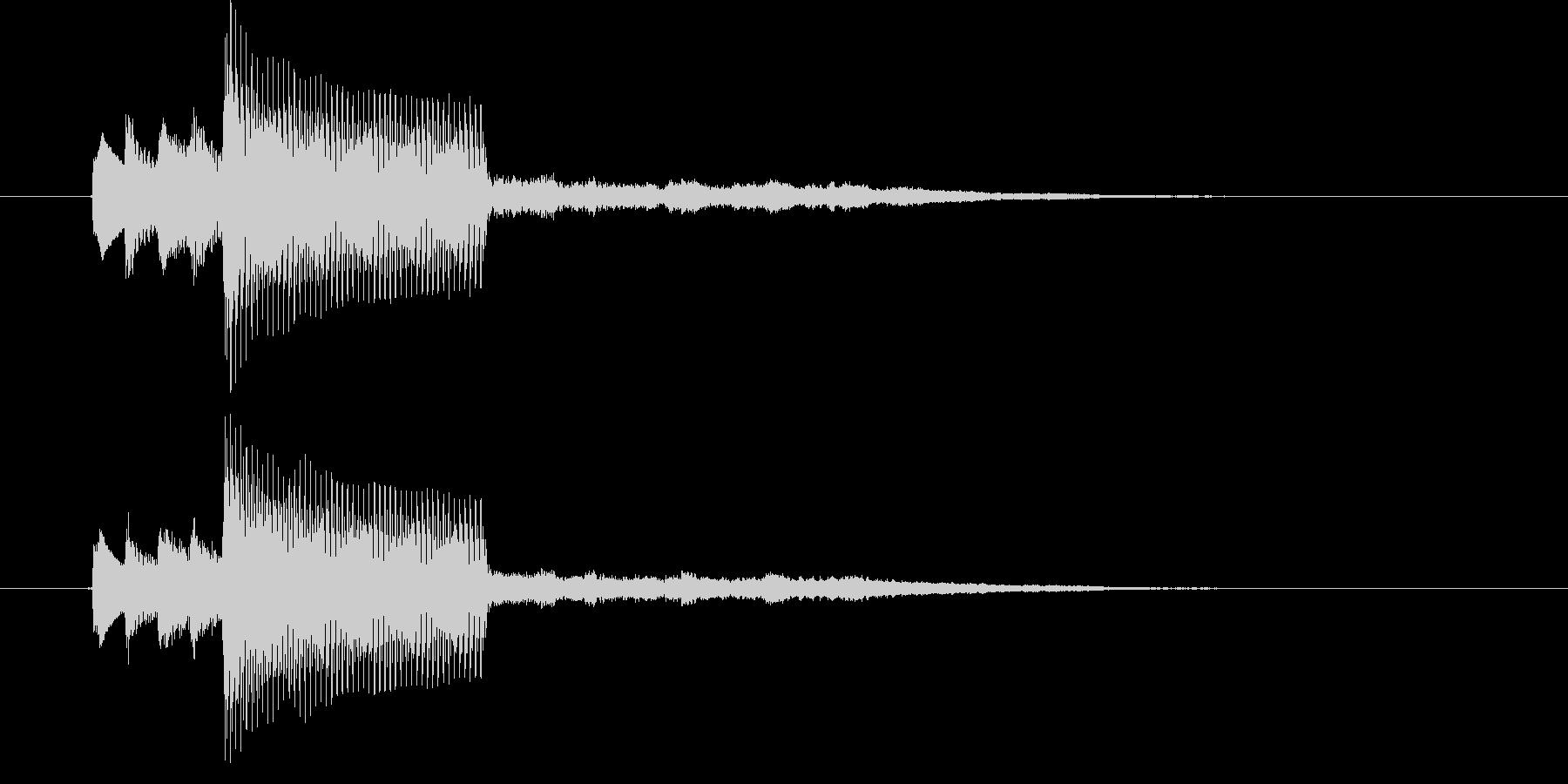ほのぼのした音色が特徴のピアノのジングルの未再生の波形