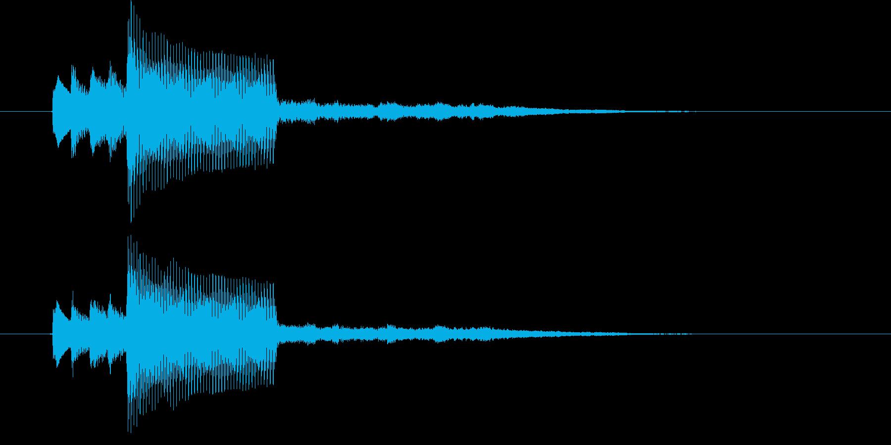 ほのぼのした音色が特徴のピアノのジングルの再生済みの波形