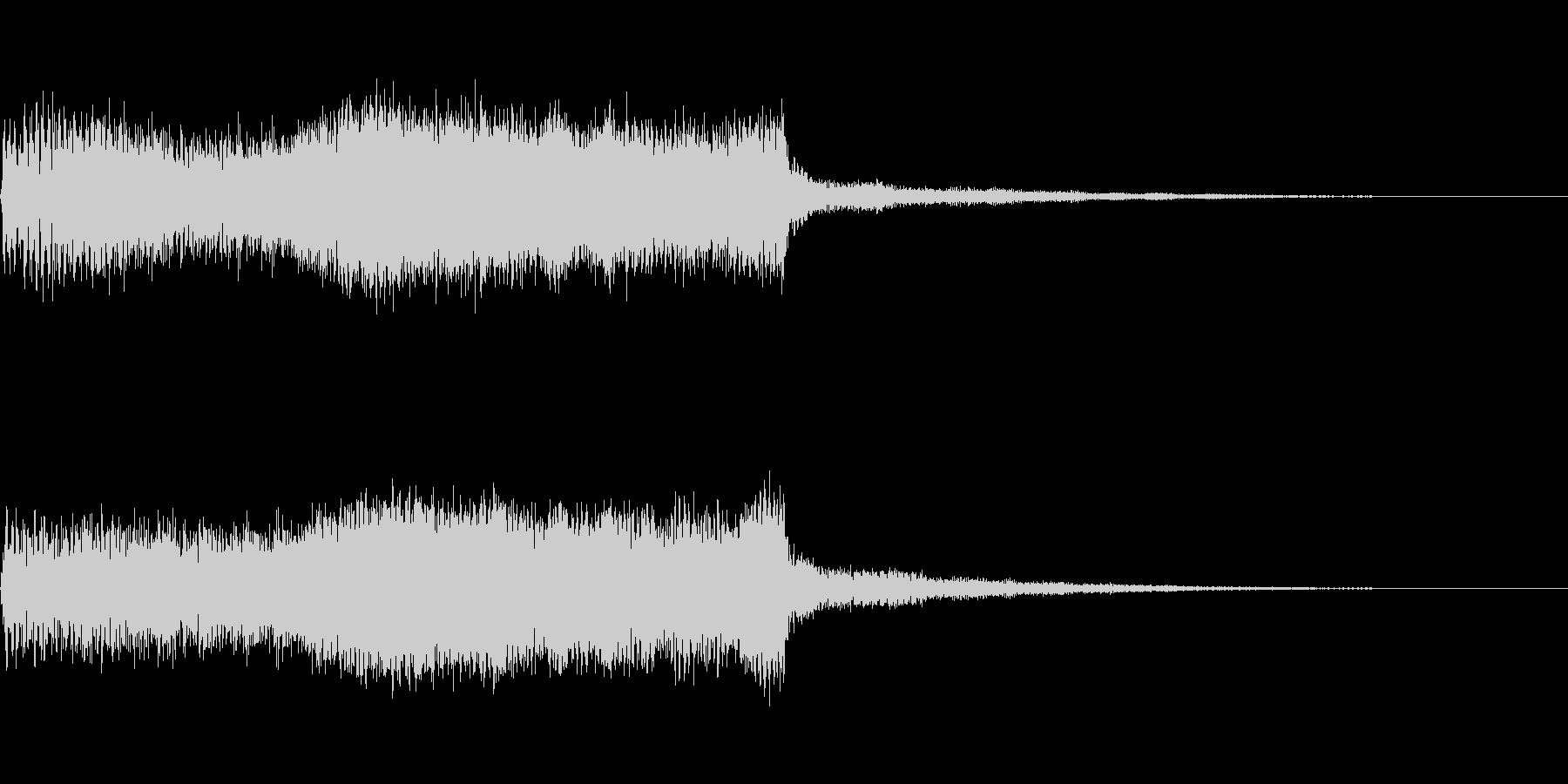 次のコーナー ジングル テクノ 場面切替の未再生の波形