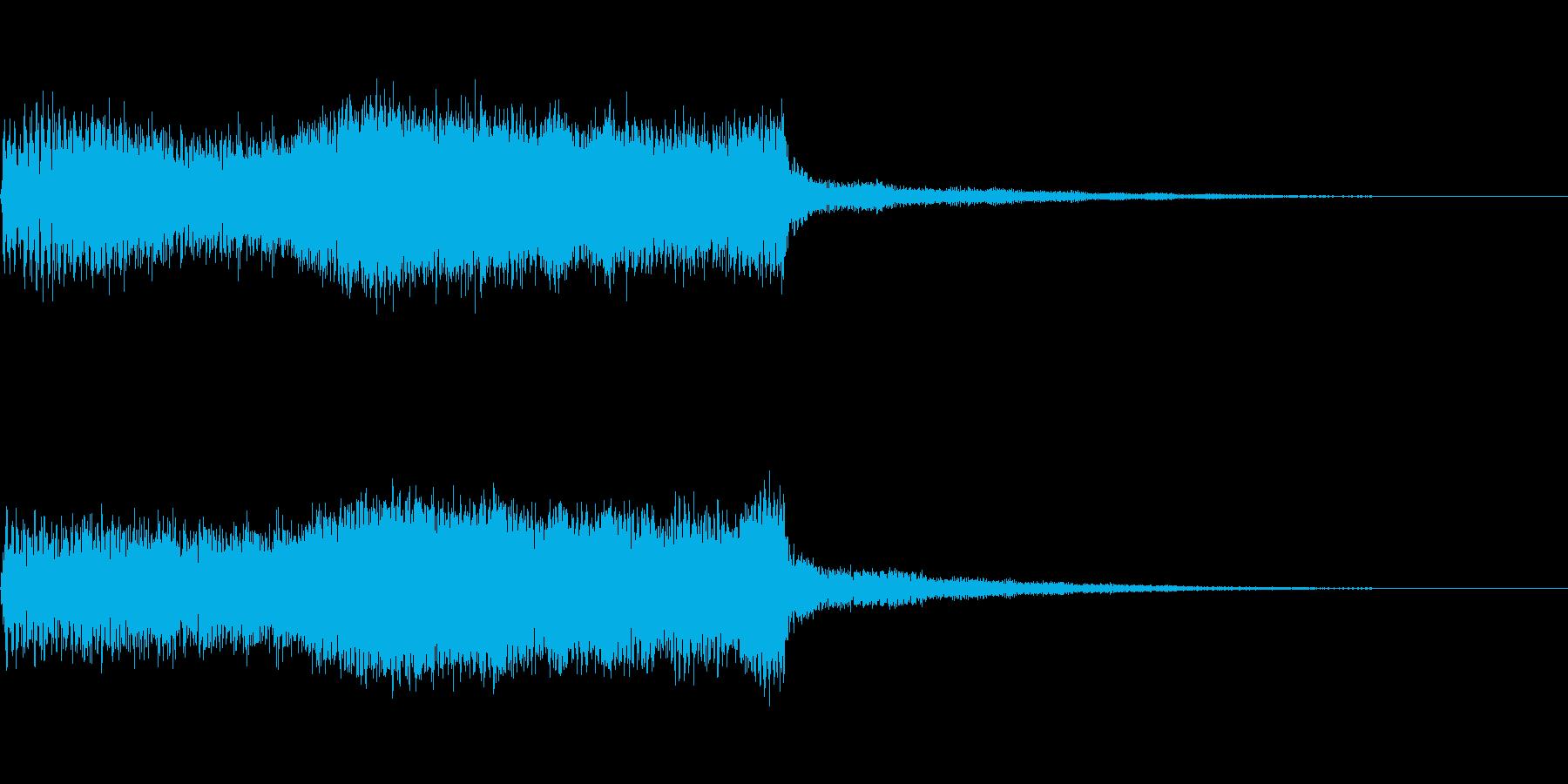 次のコーナー ジングル テクノ 場面切替の再生済みの波形