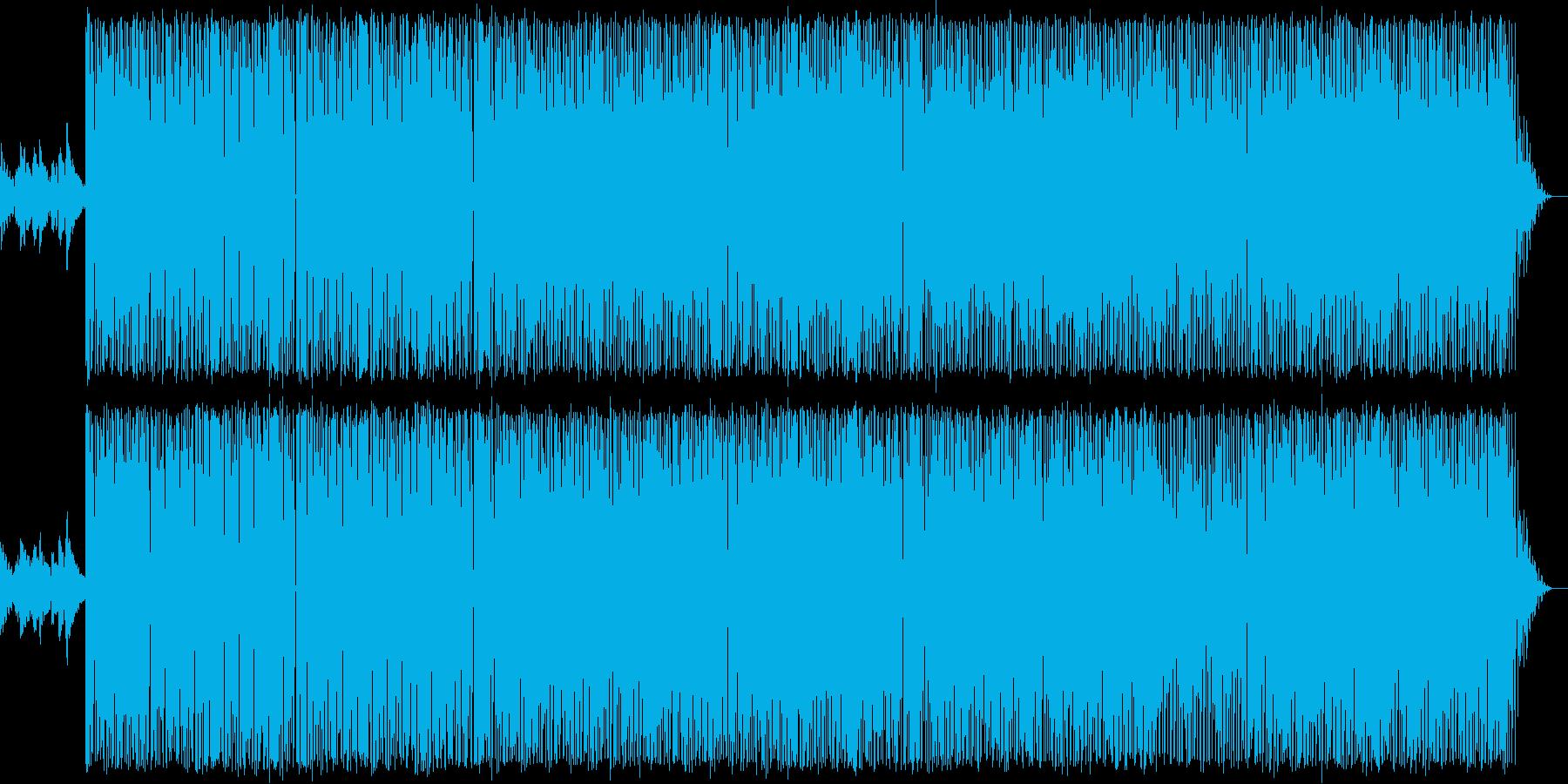 ミディアムテンポの70年代ソウル系POPの再生済みの波形