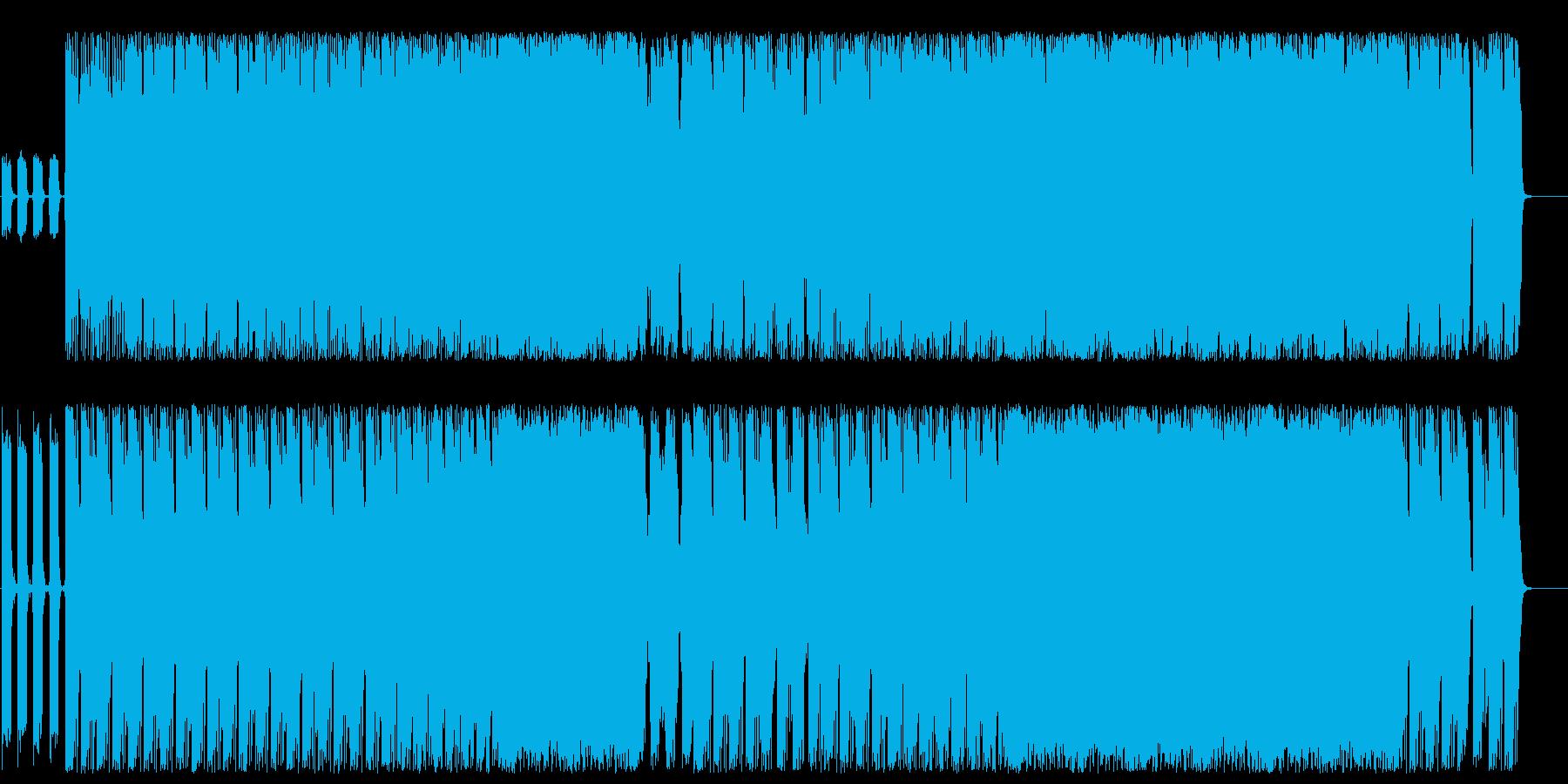 疾走感ある爽やかなエレキロックサウンドの再生済みの波形