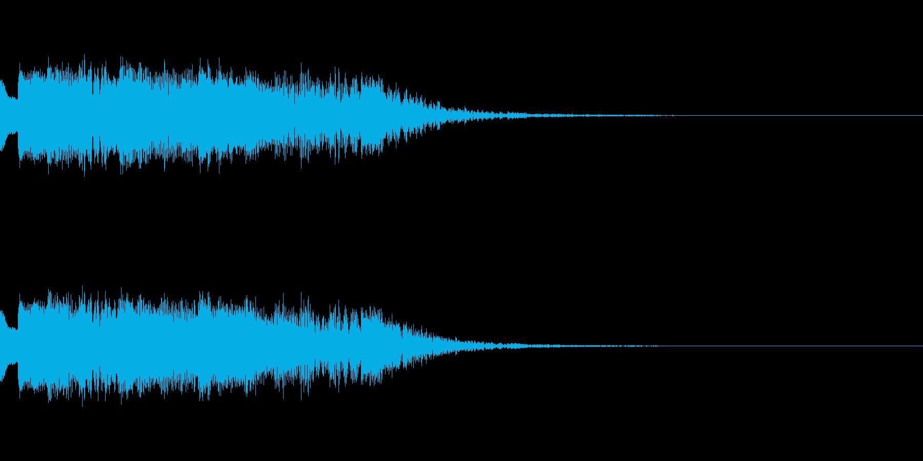 気力ダウンの再生済みの波形