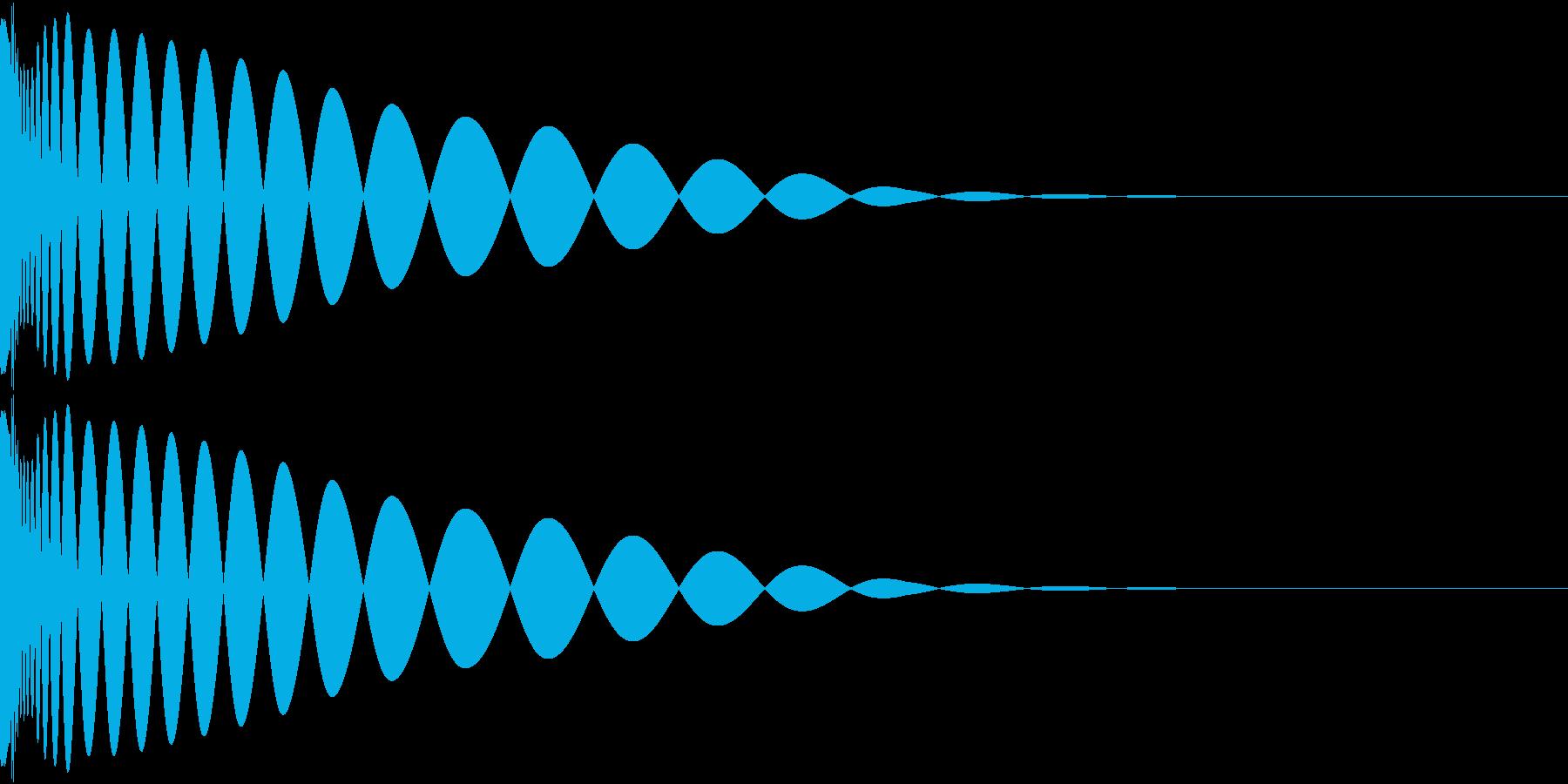 DTM Kick 29 オリジナル音源の再生済みの波形