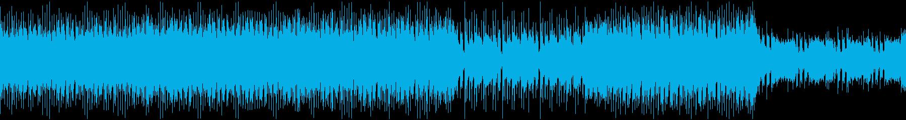 シンプルなハウス系ループの再生済みの波形