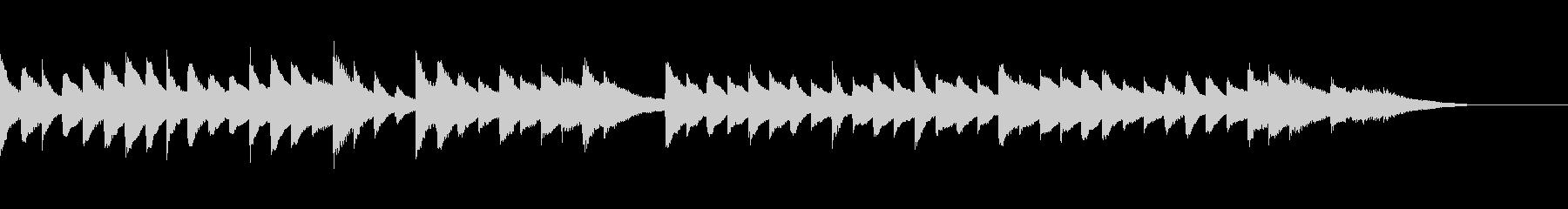 ピアノジングル6、しっとり、穏やかの未再生の波形